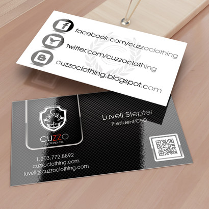 Cuzzo Clothing Business Card design
