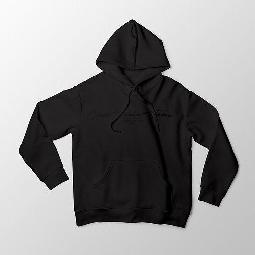 Cuzzo® Scripted Hoodie (Black-Black)