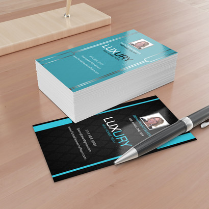 Flame graphic design business card for client