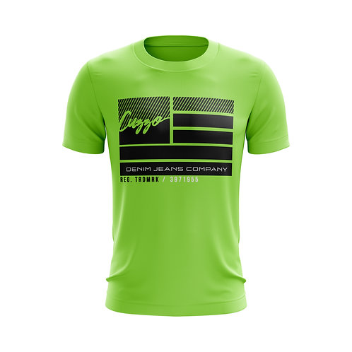 Cuzzo® Nation Flag Tee (Neon Green)
