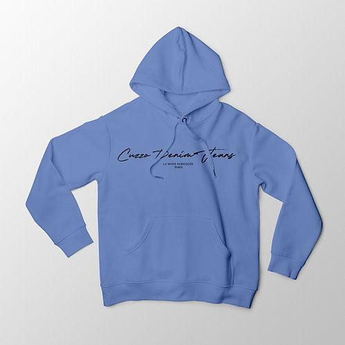 Cuzzo® Scripted Hoodie (University Blue-Black)