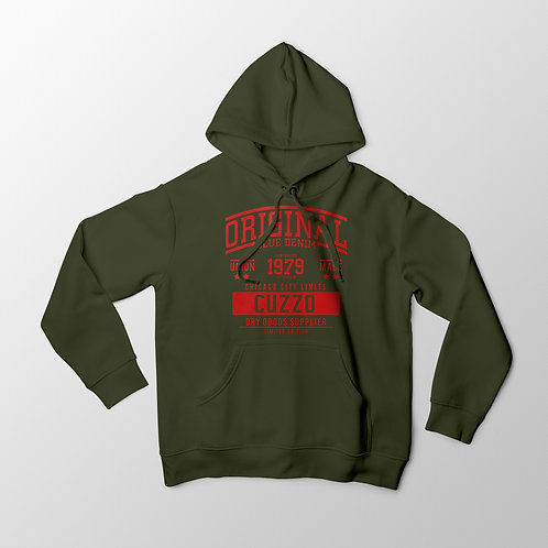 Cuzzo City-Limits Hoodie (Military Green-Red)