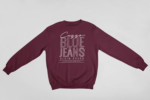 Cuzzo® Blue Jean Sweatshirt (Maroon-White)