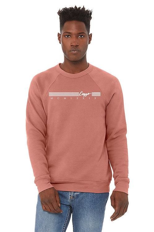 Cuzzo® EXCLUSIVE Lux Quad sweatshirt (Mauve-White)