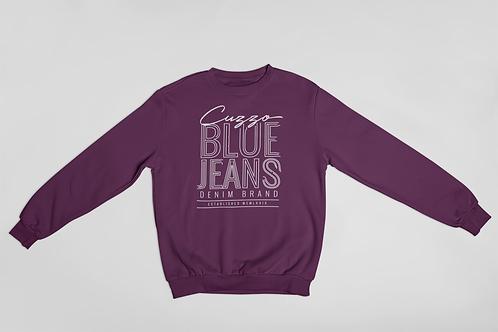Cuzzo® Blue Jean Sweatshirt (Purple-White)
