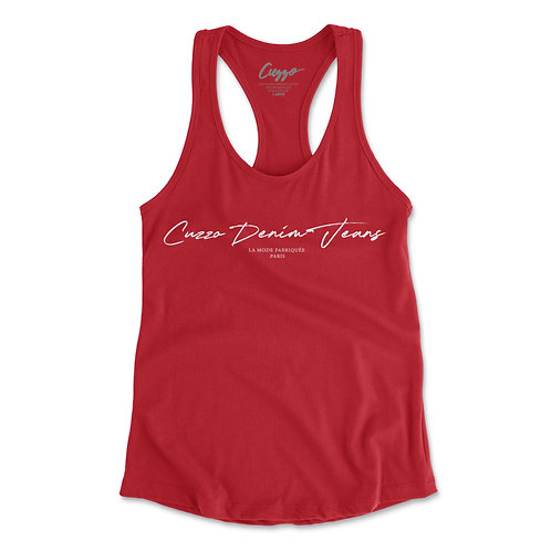 Cuzzo® Women's Scripted Tank (Red-White)