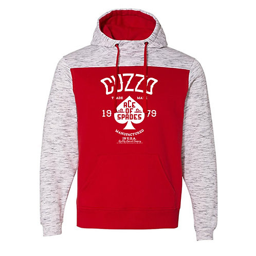Cuzzo® EXCLUSIVE Ace of Spades Hoodie (Red-Heather)