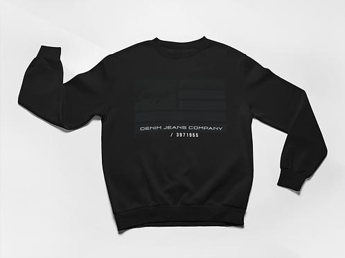 Cuzzo® Nation Flag Sweatshirt (Black)