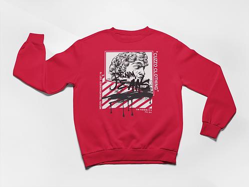 Cuzzo® Brandwashed Sweatshirt (Red)