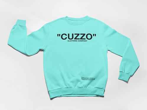 "Cuzzo® ""Quote Me"" Sweatshirt (Scuba Blue-Black)"