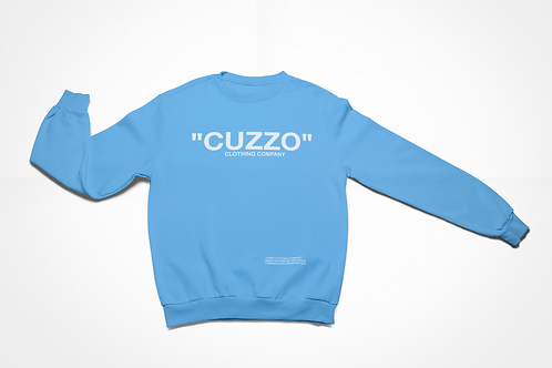 "Cuzzo® ""Quote Me"" Sweatshirt (University Blue-White)"