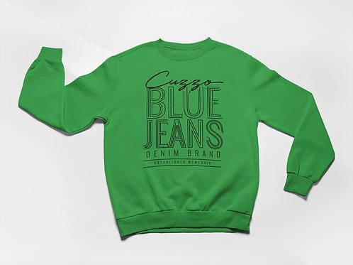 Cuzzo® Blue Jean Sweatshirt (Green-Black)