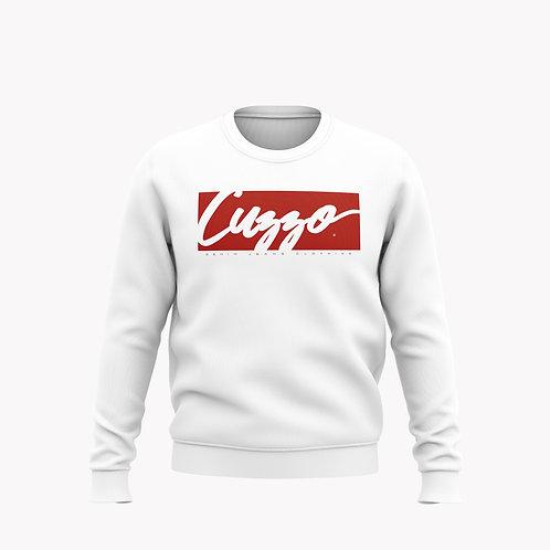 Cuzzo® Signature Block Sweatshirt  (White/Red)**