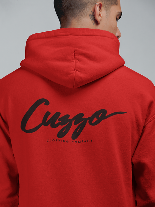 Cuzzo® Signature Full-Zip Hooded Sweatshirt (Red/Blk)
