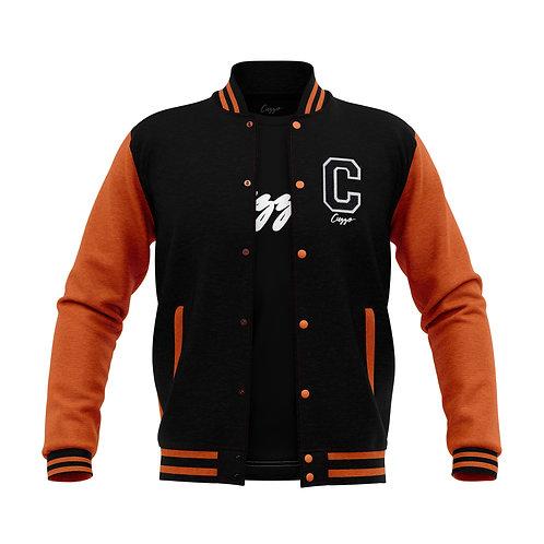 Cuzzo® Letterman Jacket (Black-Orange)