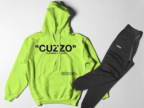Cuzzo® Quote-ME Jogger Set (Neon Green-Black)