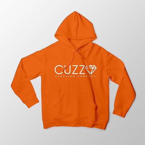 Cuzzo® Diamond Cut Hoodie (Orange-White)