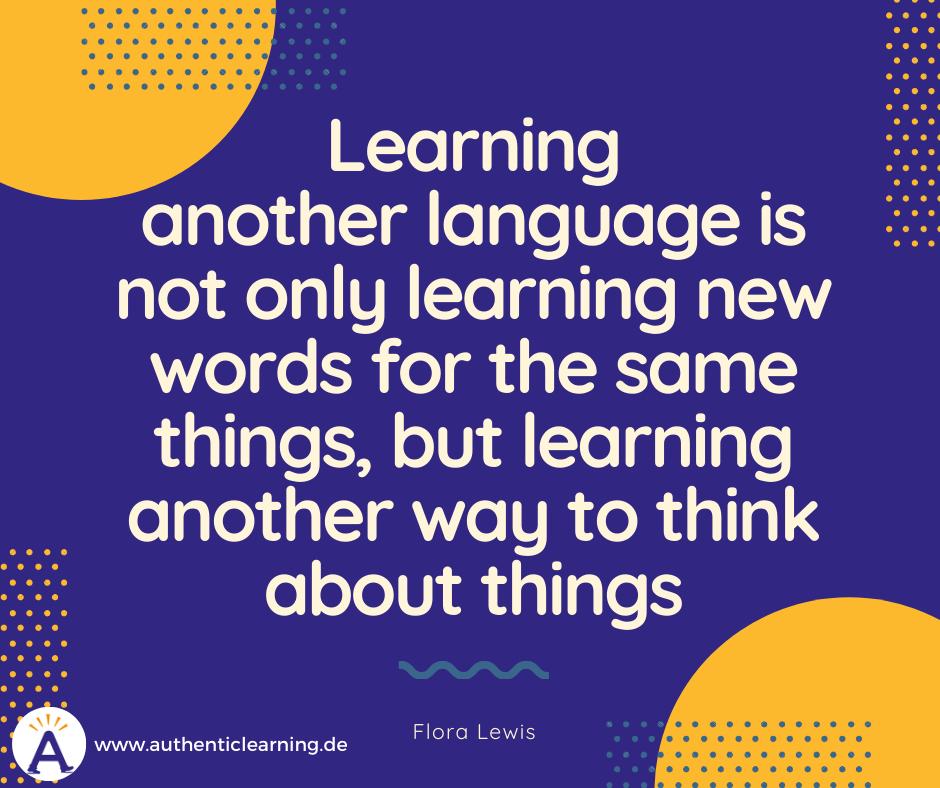 language learning German English quote Flora Lewis