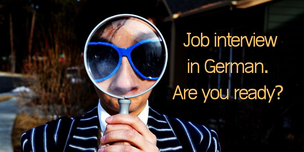 Job interview training - German
