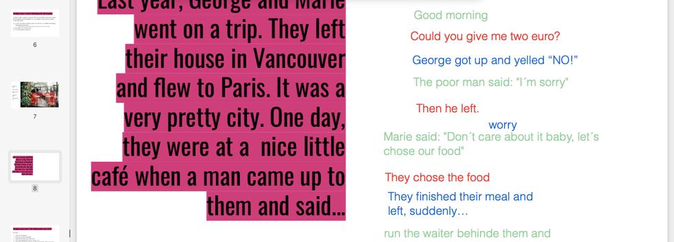 Group storytelling activity