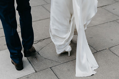 Real bride walking in Pippa