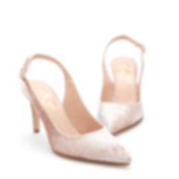 Poly Blush Pink Velvet Shoes