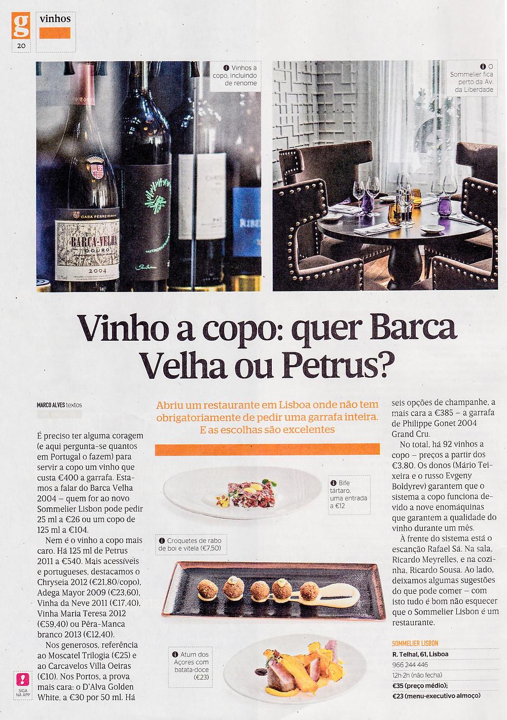 Sommelier Lisbon review