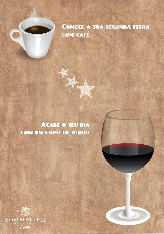 Wine and coffee