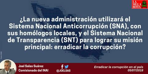 Erradicar la corrupción en el país