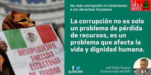 No más corrupción ni violaciones a los derechos humanos