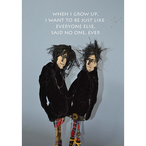 greeting card for punks, emos and goths