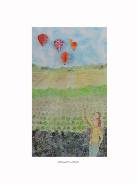 hot air balloons from dart flights