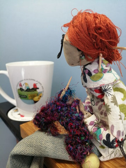for knitters and tea lovers