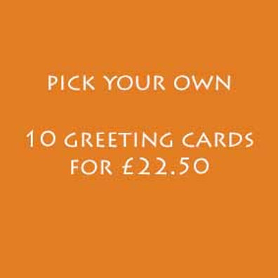 Pick Your Own. 10 A5 Greeting Cards