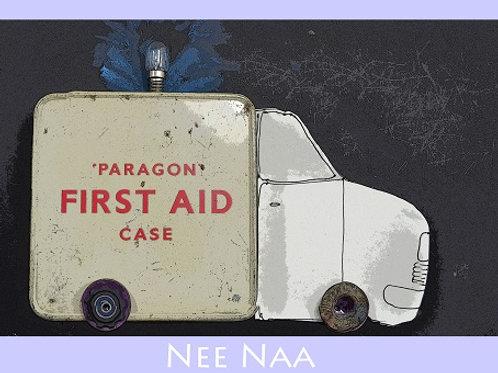 Nee Naa Old fashioned ambulance, get well soon card