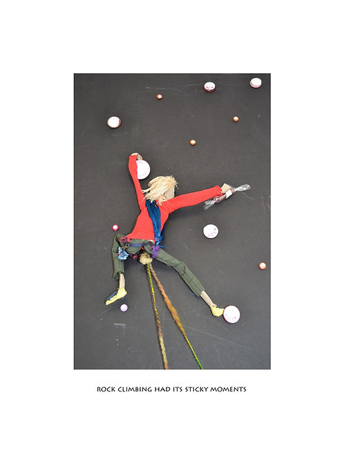 rock climbing print, perfect gift for rock climbers