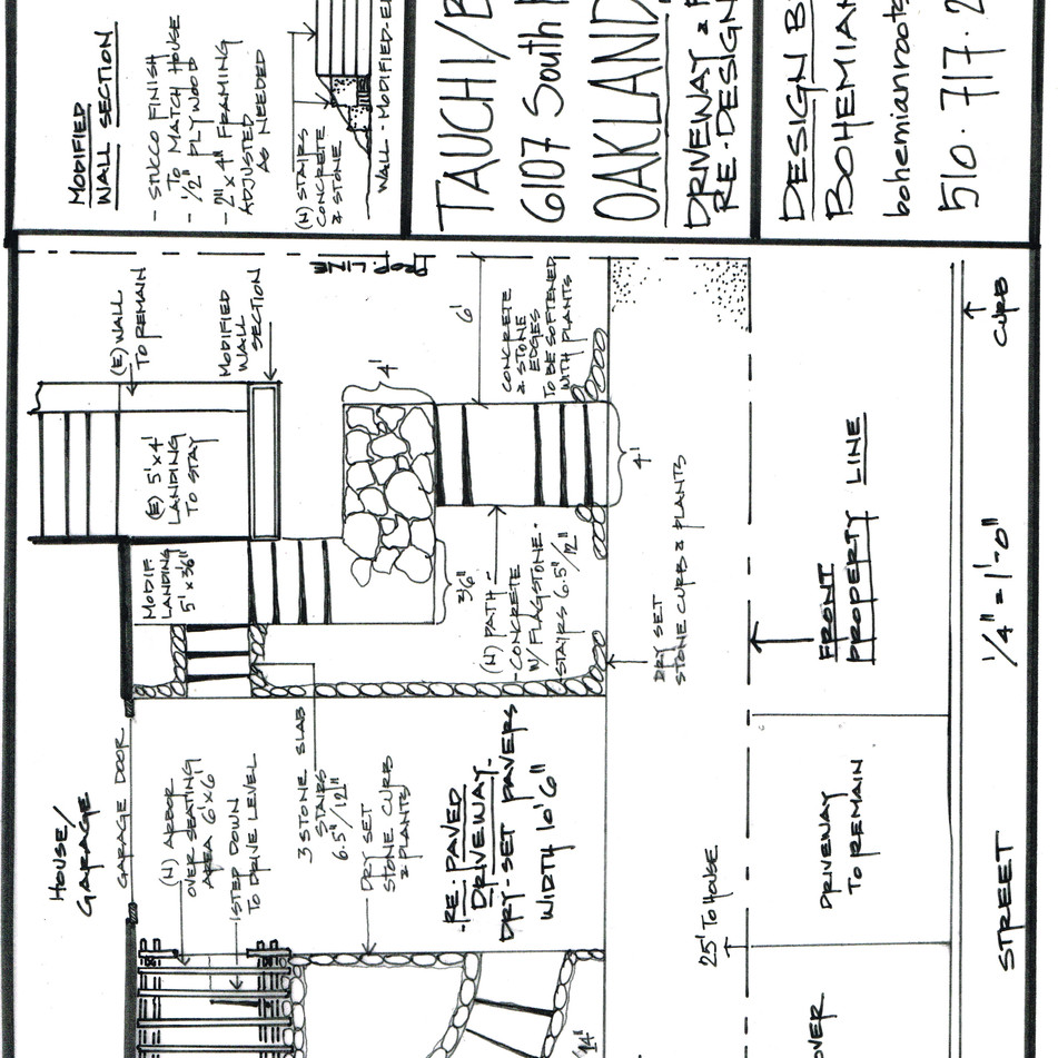 front entry redesign, permit drawing