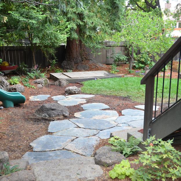 rain garden before planting