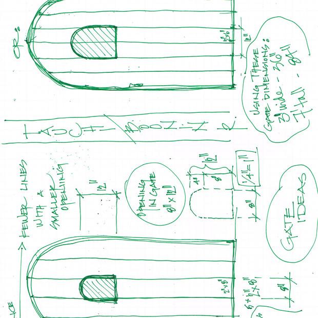 side gate sketch