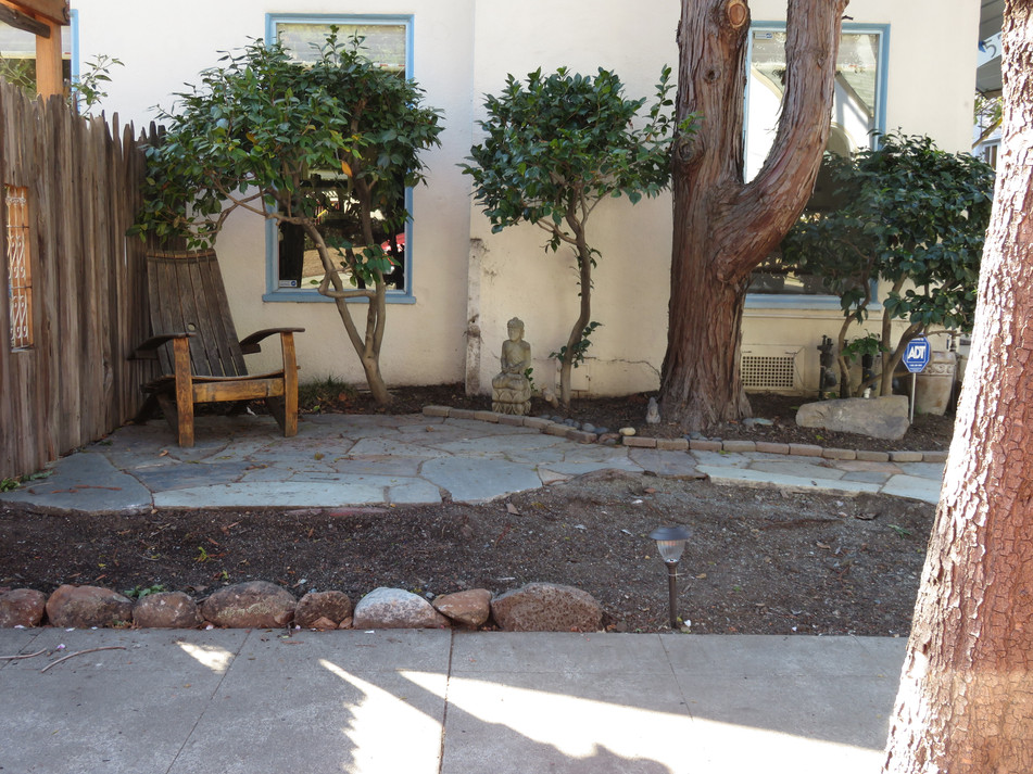 new patio before planting