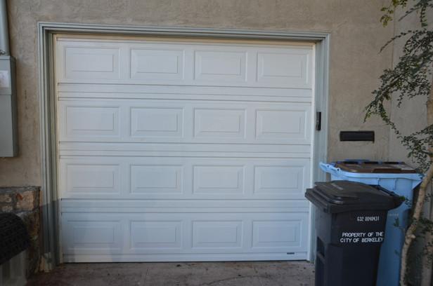 'before' view of garage door