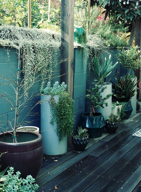 sunken grotto deck garden