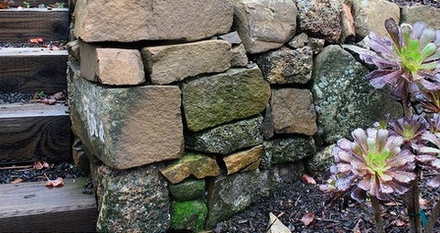 rustic retaining wall