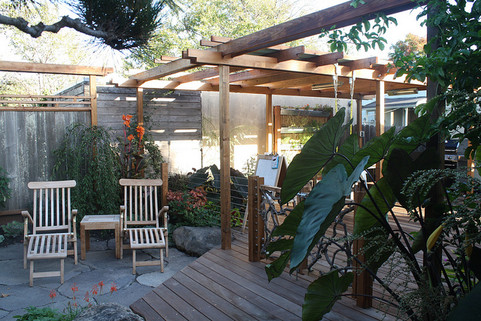 japanese-inspired deck & patio