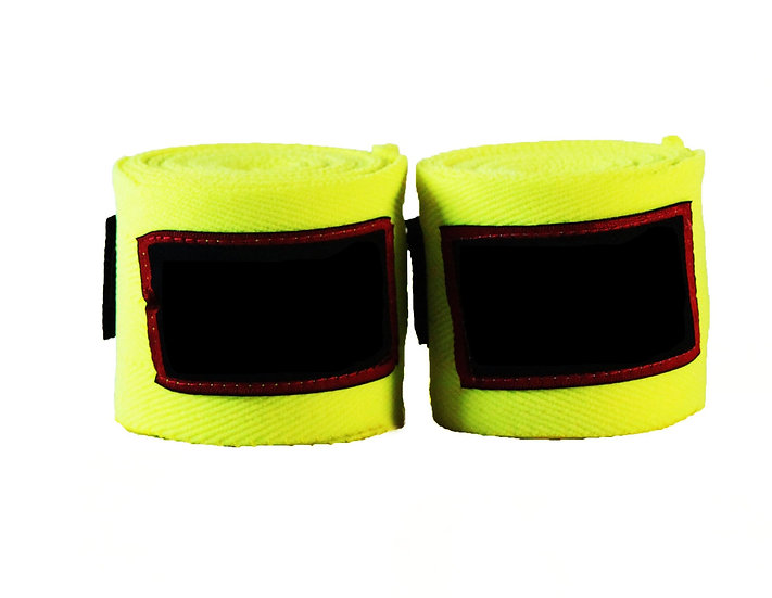 Yellow Muay Thai 4.5m Wraps - Price per Pair