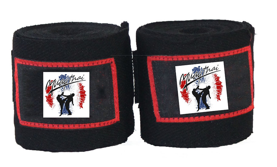 Black Muay Thai 4.5m wraps - Price per pair