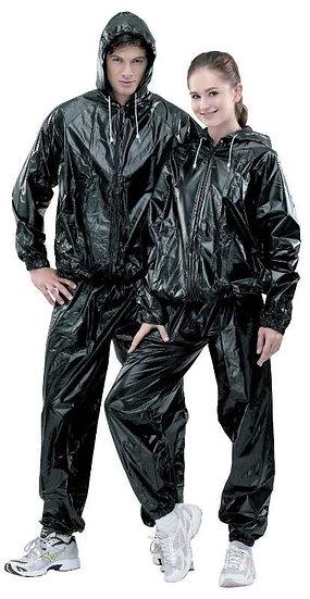 Sauna Sweat Suits - Black with hood