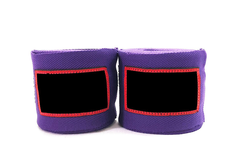 Purple Muay Thai 4.5m Wraps - Price per Pair