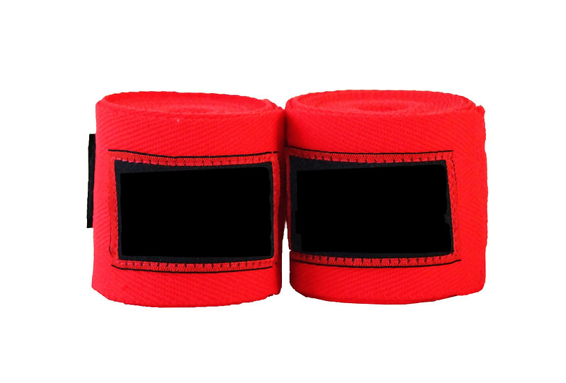 Red Muay Thai 4.5m Wraps - Price per Pair