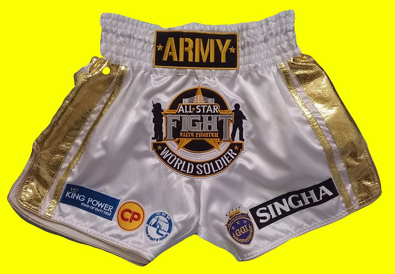"""Army All Stars"" Style Muay Thai Sublimation Printed Shorts"
